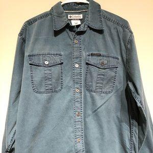 Columbia men's button down shirt size M
